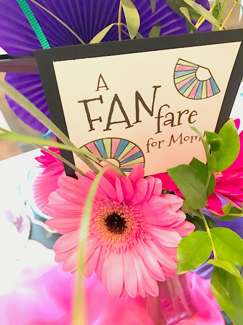 A FANfare for mom.  Party ideas for mom using fans.