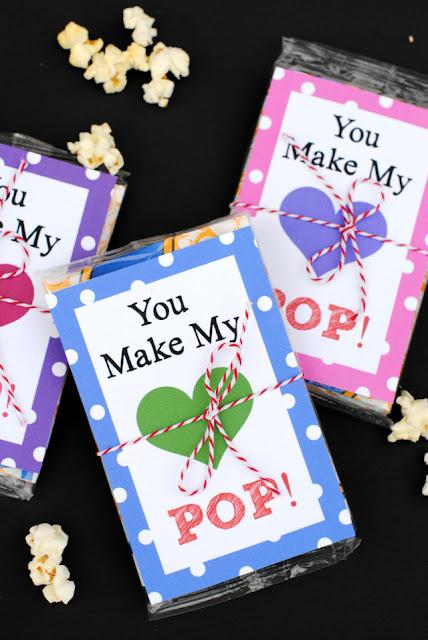 microwave popcorn valentine cards