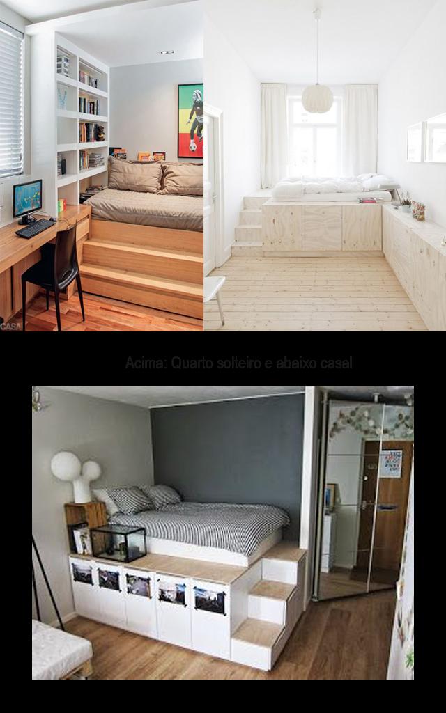 Decoração: Inspirações de camas com degraus