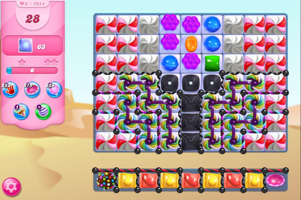 Candy Crush Saga level 7611