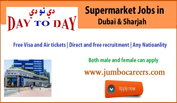UAE supermarket jobs for Indians, latest hupermarket jobs dubai