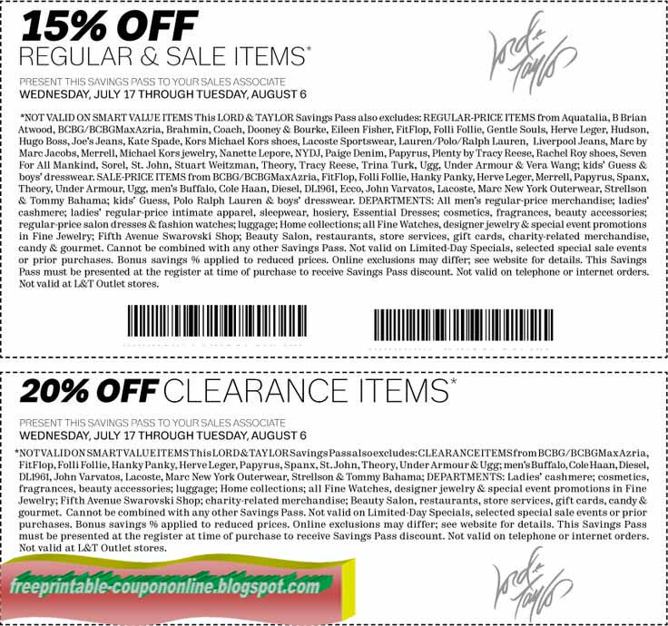 Lord and taylor coupon code