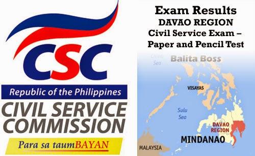 "Region 11 - Civil Service Exam Results"""