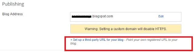 Setting Melalui Dashboard Blogger