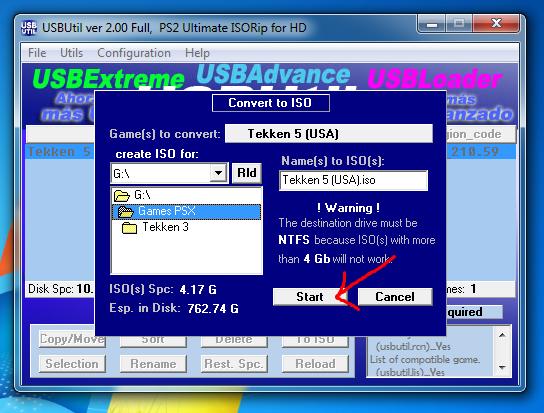 Mulai menyalin game PS2 dari UFD ke hardisk komputer