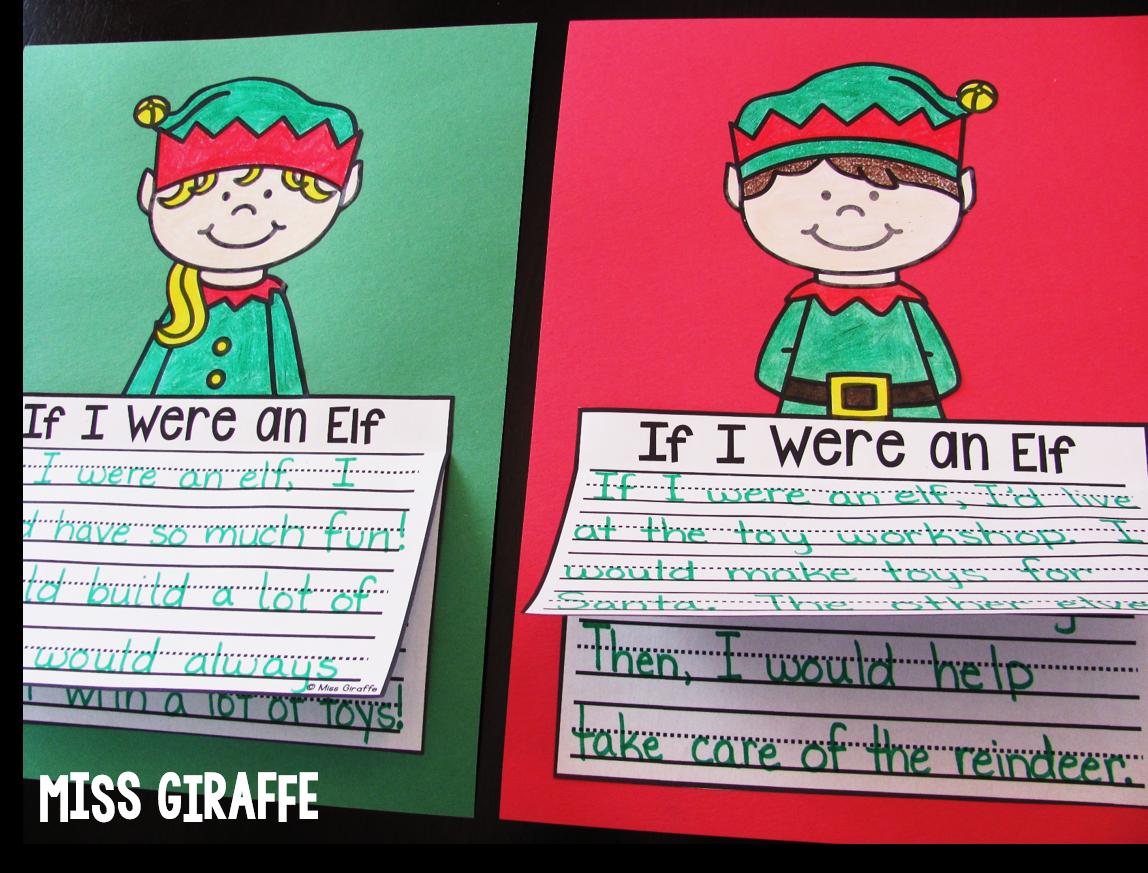 Miss Giraffe S Class December Writing Crafts
