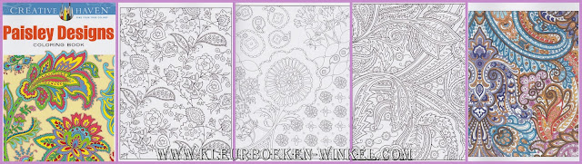 kleurboek paisley designs