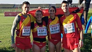 ATLETISMO - Adel Mechaal y el equipo mixto subieron al podio del Europeo de cross