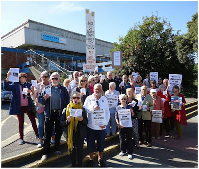 Save Our Skyline Worthing protest 12 September 2015