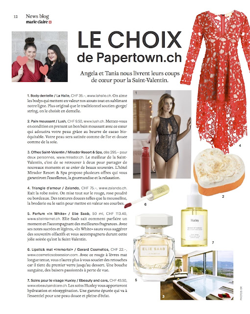 marie claire suisse, saint valentin, lush, cosmetics obsession, ebeauty and care, zalando, mirador, switzerland, swissblogger, papertownch,