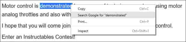 chrome-search-selected-text