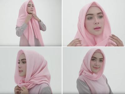 cara memakai jilbab segi empat untuk sehari-hari