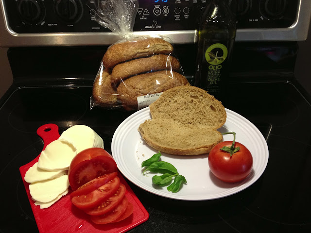 ingredients for a caprese sandwich