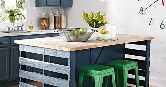 Cozinha com mesa de paletes decora o e inven o - Mesas de pale ...
