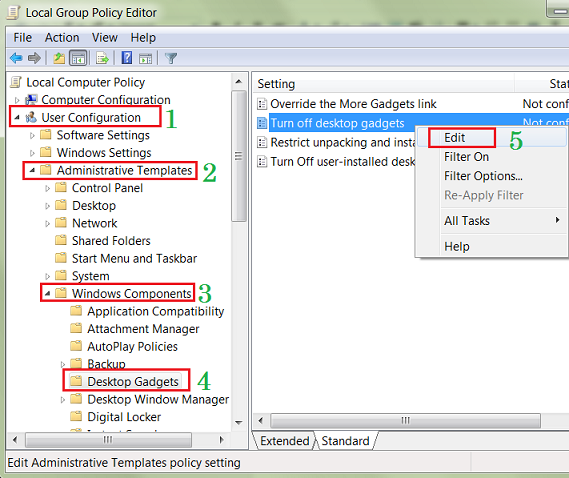 Group Policy Editor Window