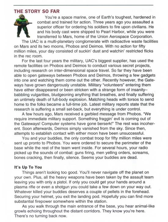 DOOM 1993 story