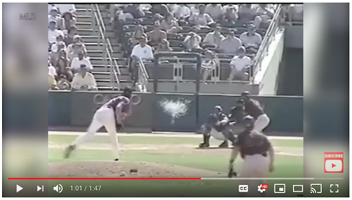 The Onion story about Randy Johnson's bird-killing 2001 pitch