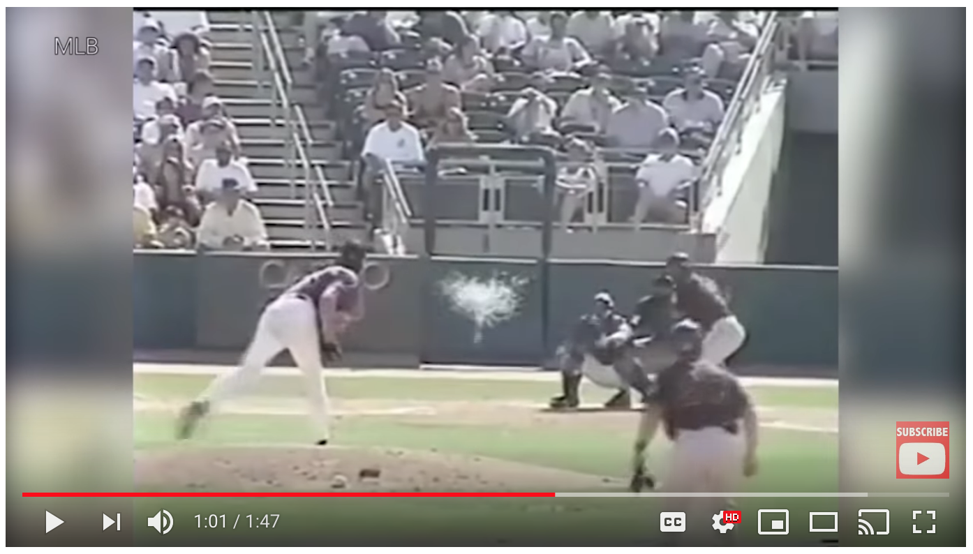 6b55a77d32 Back during baseball spring training in 2001, Randy Johnson, the amazing  left-handed pitcher for the Arizona Diamondbacks, was up against Calvin  Murray of ...