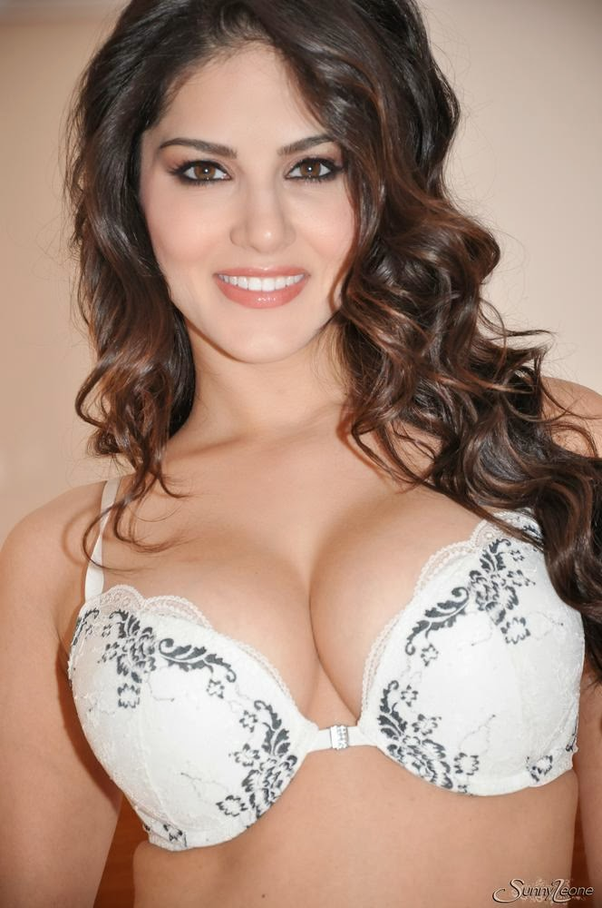 Sunny Leone Sultry Striptease Of Her Sexy White Lingerie-9192