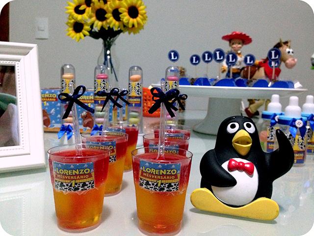 Gelatina com Sabores no Copinho Personalizado - Mêsversário com Decoração do Toy Story