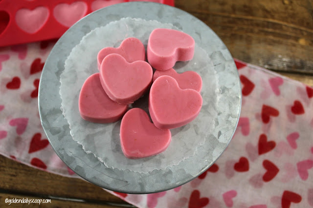 heart shaped strawberry homemade Valentine dog treats