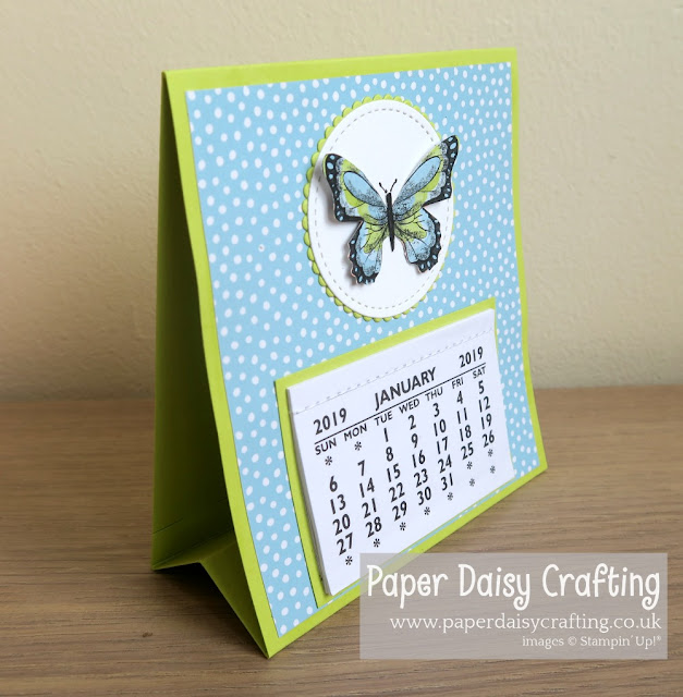 Botanical butterfly desk calendar Stampin Up
