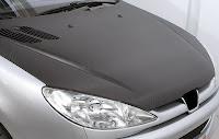 Siyah kaplanmış araç kaputu