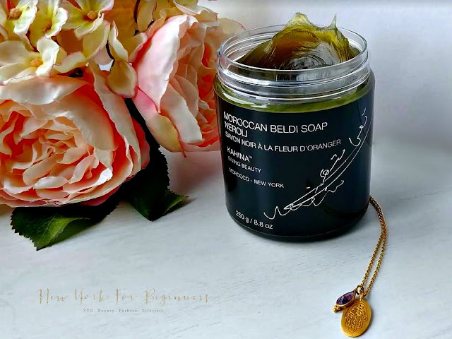 Kahina Neroli Moroccan Beldi Black Soap Review at New York For Beginners