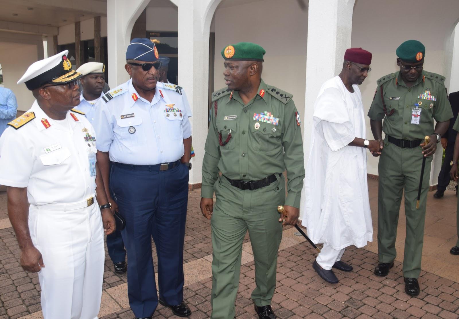 buhari service chiefs aso rock