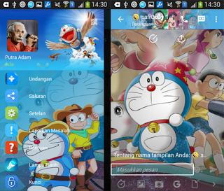 BBM MOD Tema Doraemon v2.12.0.11 Apk Terbaru 2016
