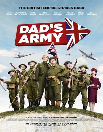 Poster Of Dad's Army 2016 English 350MB BRRip 720p ESubs HEVC Free Download Watch Online Worldfree4u