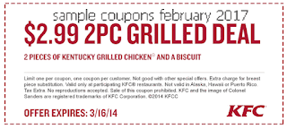 Kfc coupons for february 2017