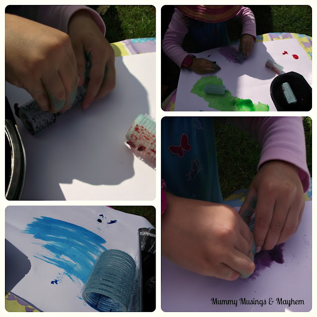 Sensory paint and fine motor toddlers