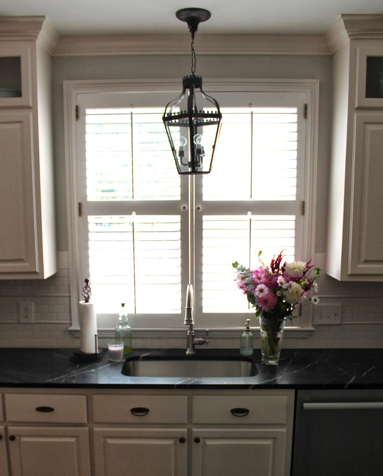 Designing Domesticity: Sayonara Forest Green Tile {Kitchen ...
