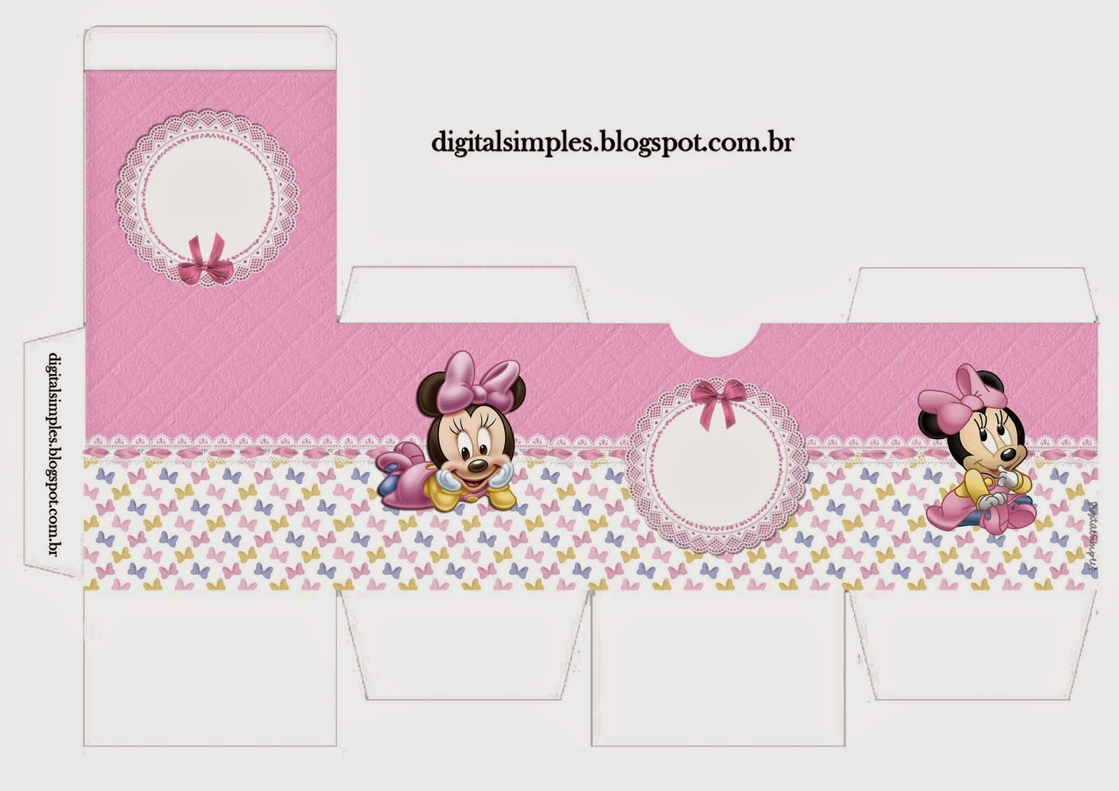 Lovely Minnie Baby Invitations And Free Printable Boxes Oh My