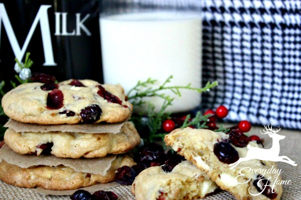 Cranberry Pecan White Chocolate Chunk Cookies from The Everyday Home Blog