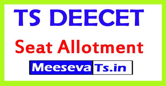 TS DEECET Seat Allotment 2019