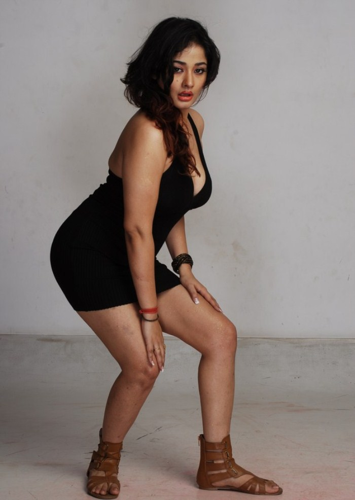 Kiran rathod spicy black dress hot navel stills ga…