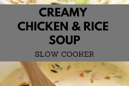 Weight Watcher Creamy Chicken & Rice Soup (SLOW COOKER)