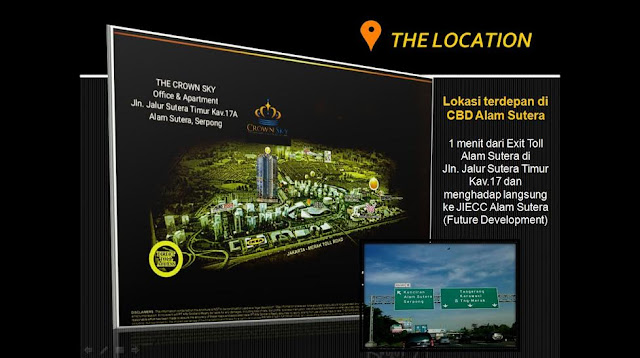 Lokasi The Crown Alam Sutera Office & Apartment
