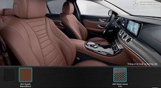 Nội thất Mercedes E300 AMG 2017 nhập khẩu màu Nâu 824
