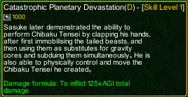 naruto castle defense 6.2 naruto Catastrophic Planetary Devastation detail