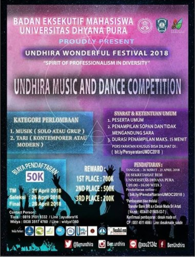 Lomba Musik Dan Dance Competition Undhira