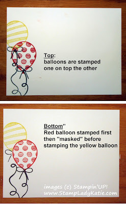 Envelope decorated  with Stampin'UP!'s Balloon Adventures Stamp Set