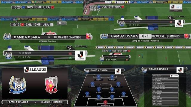 PES 2016 J.League Scoreboard With Replay Logo