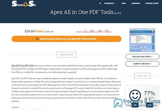 Giveaway : Apex All in One PDF Tools gratuit (3 jours) !