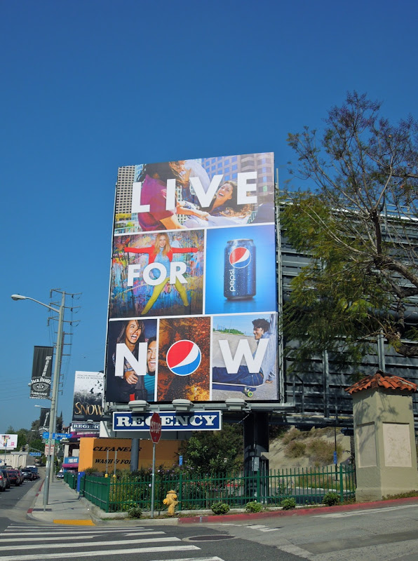 Pepsi Live For Now billboard 2012