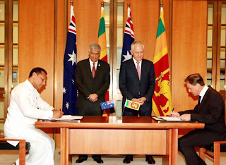 The MOU on Sport Development co-operation was signed by the Australian Minister for Sport and Health Greg Hunt and Sri Lankan Minister of Sports Dayasiri Jayasekara.