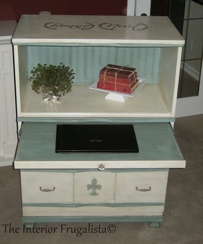 4-drawer dresser turned into a faux secretary