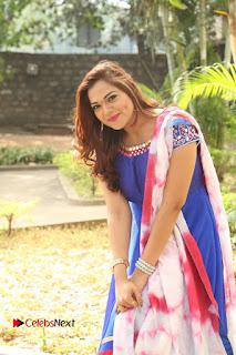 Actress Ashwini Stills in Blue Chudidar at Ameerpet Lo Release Press Meet  0193.JPG